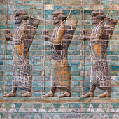 Achaemenid Soldiers — Stock Photo