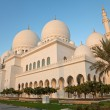 Abu Dhabi Sheikh Zayed Mosque Exterior in the daylight — Stock Photo