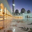Stock Photo: Night Shot from Abu Dhabi Sheikh Zayed Mosque