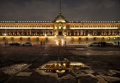 National Palace in Plaza de la Constitucion of Mexico City at Night — Stock Photo