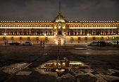 National Palace in Plaza de la Constitucion of Mexico City at Night — Stock Photo