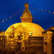 Night Shot from Swayambhunath Temple in Kathmandu — Stock Photo