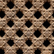 Stone Latticework with Flowers Pattern — Stock Photo