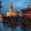 Swayambhunath Temple in Kathmandu of Nepal — Stock Photo