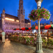 Stock Photo: Brussels Town Hall in Grand Place at Night
