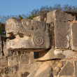 Stock Photo: Feathered Serpent of Chichen Itzin Mexico