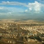 Aerial Panorama of Tehran Skyline — Stock Photo