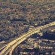 Aerial View of a Main Highway in Tehran — Stock Photo