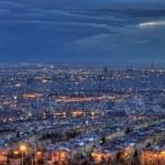 Aerial View of Illuminated Tehran Skyline at Night — Stock Photo