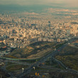 Aerial View of Tehran Capital of Iran Before Sunset — Stock Photo