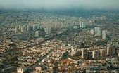 Aerial View of Tehran From Above Milad Tower in a Rainy Day — Stock Photo