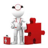 Medical challenge. Isolated — Stock Photo