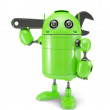 Android with wrench. Repair concept — Stock Photo #19778665