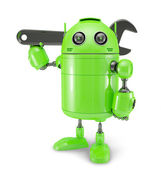 Android with wrench. Repair concept — Stock Photo