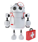 Medical robot robot with the first aid kit — Stock Photo