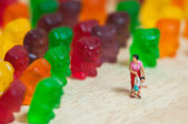 Gummi bear invasion — Stockfoto