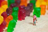 Gummi miś inwazji — Zdjęcie stockowe
