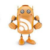 RSS icon robot — Stock Photo