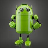 Standing android — Stock Photo