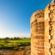 Ruins of Agios Sozomenos temple. Panoramic photo. — Stock Photo