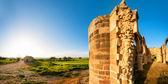 Ruins of Agios Sozomenos temple. Panoramic photo. — Stock Photo