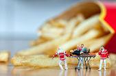 Srdeční infarkt. nezdravé jídlo koncept — Stock fotografie