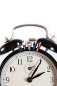 Business team clock — Stock Photo