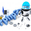 Robot with PHP sign — Stock Photo #44341489
