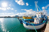 Old fishing boat in Limassol harbour. — Stock Photo