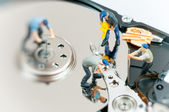 Workers repairing hard drive. — Stock Photo