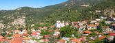 Panoramic view of Pedoulas Village. — Stock Photo