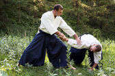 Training martial art Aikido. — Stock fotografie