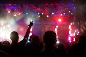 Publiken på konsert — Stockfoto