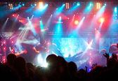 Kalabalık konser — Stok fotoğraf