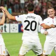 Van Persie, Cleverley and Rooney - Stock Photo