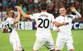 Van Persie, Cleverley and Rooney — Foto de Stock