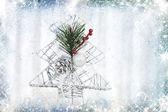Fondo vintage con decoraciones de la navidad — Foto de Stock