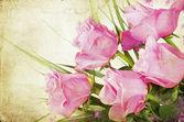 розовые розы на фоне винтаж — Стоковое фото