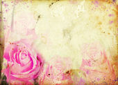 Růžová růže na vinobraní pozadí — Stock fotografie