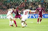 Eboue in CFR Cliuj-Napoca vs Galatasaray istambul footbal match — Stock Photo
