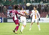 Sougou and Emre Colak in CFR Cliuj-Napoca vs Galatasaray istambul footbal match — Stock Photo