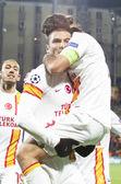 Burak in CFR Cliuj-Napoca vs Galatasaray istambul footbal match — Stock Photo