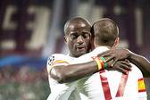 Dany Nounkeu in CFR Cliuj-Napoca vs Galatasaray istambul footbal match — Stock Photo