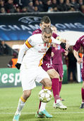 Burak in CFR Cliuj-Napoca vs Galatasaray istambul footbal match — Stock Photo
