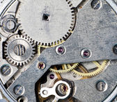 Vintage clock's gears — Stock Photo