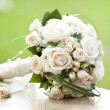 Stock Photo: Vintage photo of white wedding bouquet
