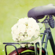 Wedding bouquet on a bicycle — Stock Photo #29019631