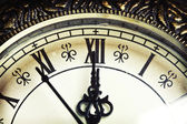 Close up on vintage clock — Stock Photo