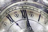 New Year's at midnight — Stock Photo