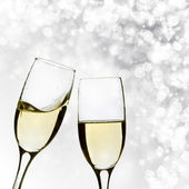 Glasses with champagne — 图库照片